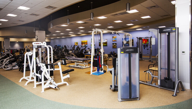 Equipment at Duke Cardiopulmonary Rehabilitation at Croasdaile