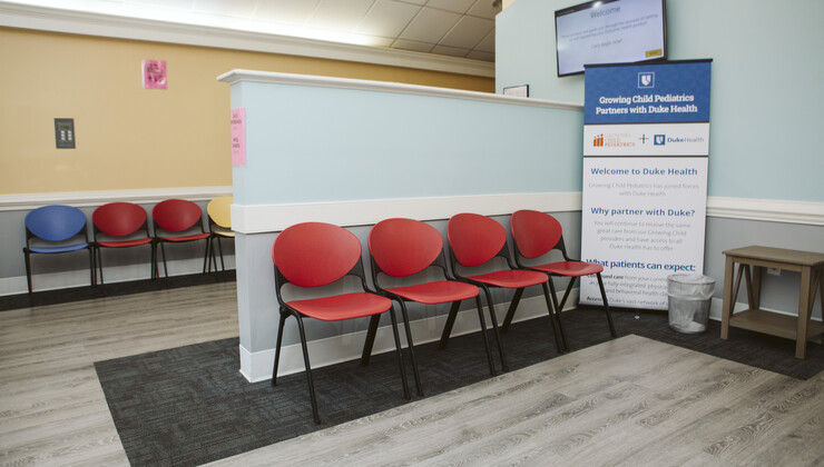 Growing Child Pediatrics at Knightdale waiting area