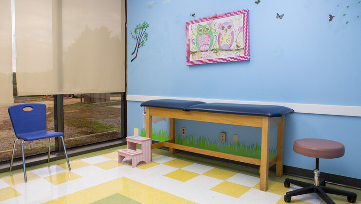 Growing Child Pediatrics at Wake Forest exam room