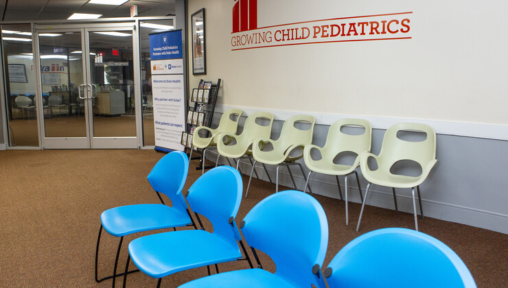 Growing Child Pediatrics at Wake Forest waiting area