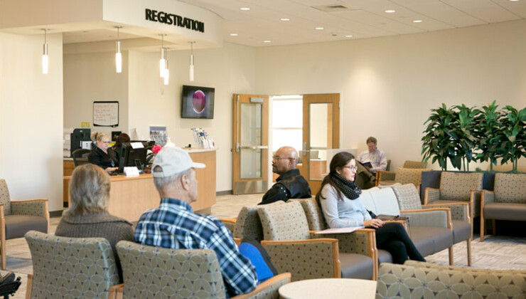 Eye Center waiting room