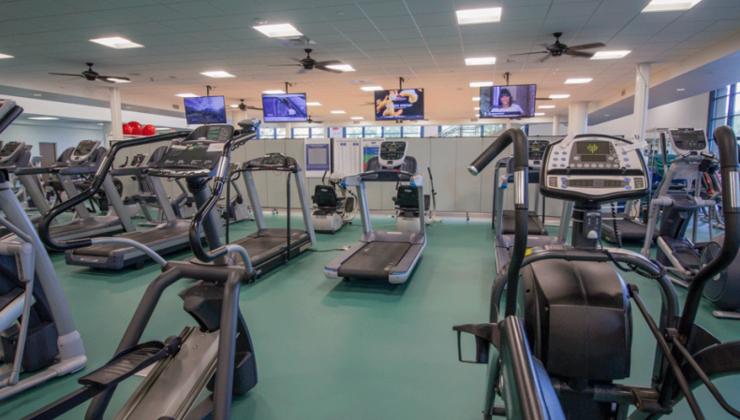 Duke Health & Fitness Center cardio theater