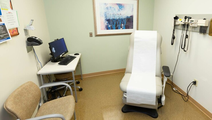 A clinic room