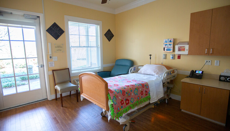 One of 12 private patient rooms located at Hock Family Pavilion.