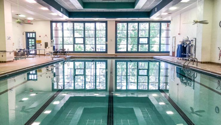 Duke Health & Fitness Center pool wide